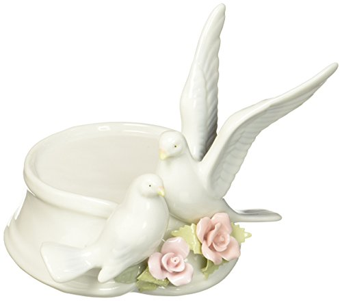 Musical Christmas Candle (Cosmos 96280 Fine Porcelain Pair of Doves Candle Holder, 5-Inch)