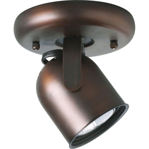 Progress Lighting P6145-174WB 1-Light Round Back Ceiling Mount Directional, Urban Bronze