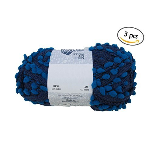 hnet Yarn - 70% Acrylic 30% Polyamide Blend - 100g - 3 Skeins - Cool Pond (Pond Fishnet)