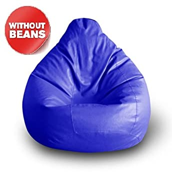 Nexis Sundry Premium Quality Faux Leather Fabric XXXL Blue Bean Bag  Suitable For Indoor/