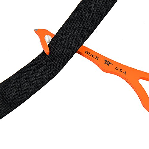 Buck 0299ORG-B Fixed Blade Strap Cutter Knife