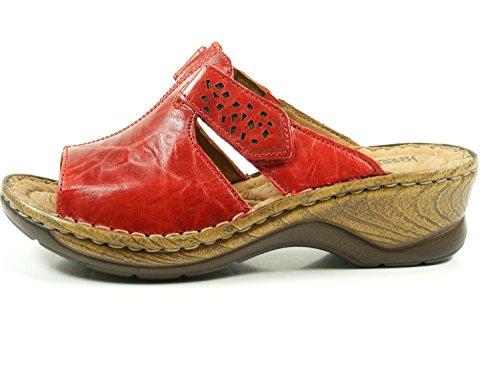Josef Seibel Donna Catalonia Sandali Velcro Rosso