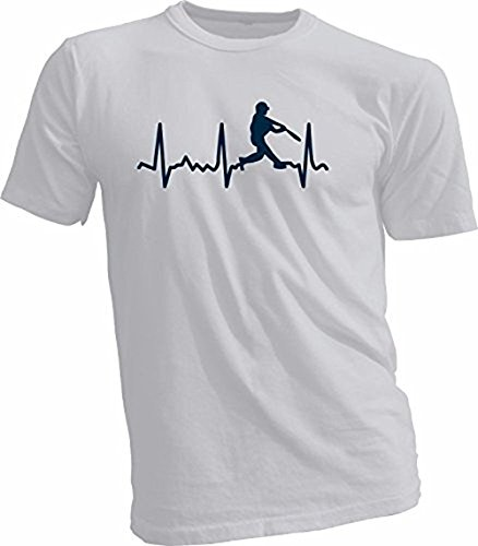 Kid Allstar Baseball Heartbeat Pitcher, Catcher, Batter Unisex Youth & Adult T-Shirt (Grey Batter, Adult XL)