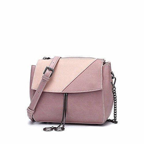 Bolso crossbody de las mujeres, borla del color del verano bolso cuadrado pequeño del hombro solo, bolso de cadena retro de costura