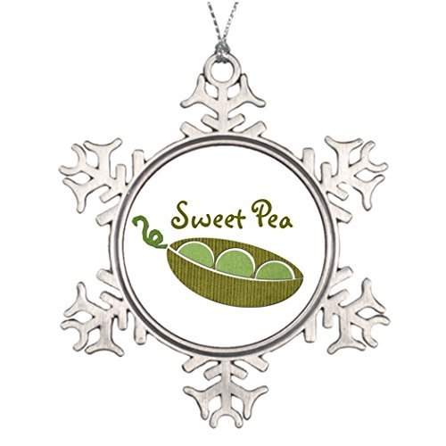 Metal Ornaments Tree Branch Decoration Sweet Pea Snowflake Ornaments And More Sweet Pea Ornament
