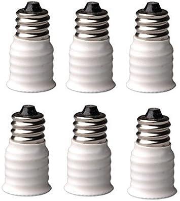 10pc E14 European base light bulb socket to an E12 candelabra base bulb sockets