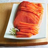3.0 Lb. New York's Delicacy, Most Awarded, Pre-Sliced, Smoked Salmon Fillet, On Skin (1 Fillet)