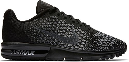 uk availability 9346a 8b4df Nike Femmes Air Max Sequent 2 Chaussure De Course Noir Mtlc Dk Gris Loup  Gris