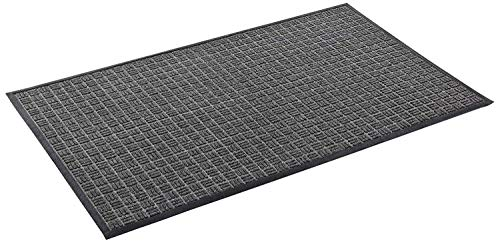 Kempf Water Retainer Mat - Great for All Seasons, Durable with Heavy Rubber Backing - Black Coir Doormat