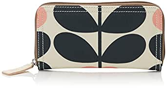 Orla Kiely Summer Flower Stem Big Zip Wallet, Sunset