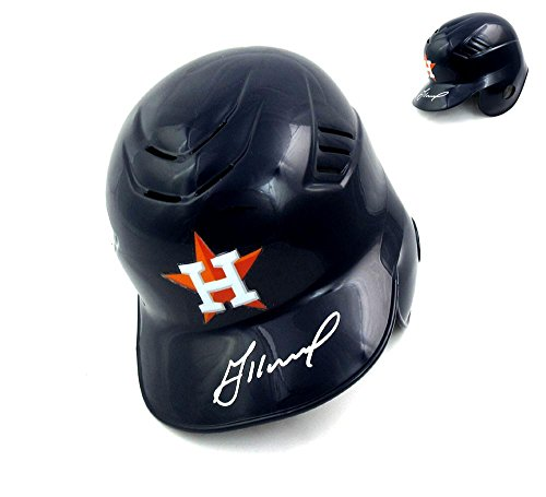 Jose Altuve Signed Houston Astros Rawlings Cool-Flo MLB Batting Helmet - Silver Ink - Autographed MLB (Silver Baseball Batting Helmet)