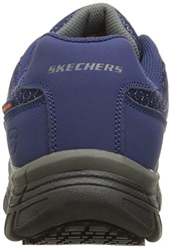 Skechers for Work Hombres Conroe Dierks Zapato de trabajo, Navy