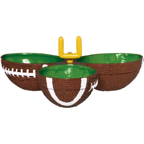 Amscan Football Frenzy Birthday Party Condiment Dish, 1