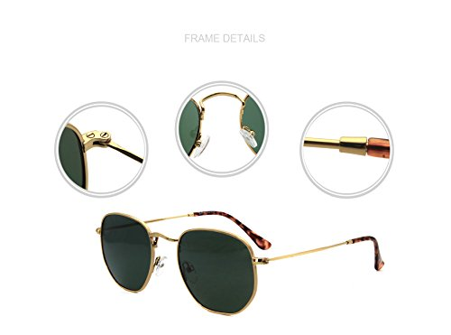 Frame Richmode soleil Lunettes Gold Homme Taille Unique Silver Green Vert de Lens wYHwA