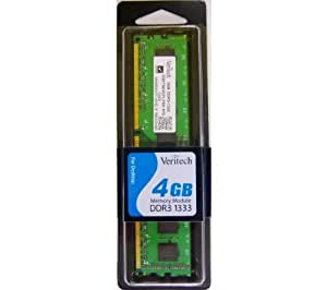 VERITECH Memoria PC Value RAM 4 GB DDR3-1333 - PC3-10666 (D3/1333/4G)