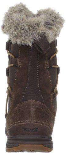 Teva Little Cloud Wp - Zapatillas de Senderismo de cuero nobuck mujer marrón - Marron (Dark Brown/Dkb)