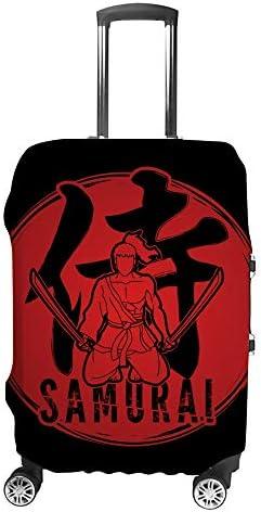 スーツケースカバー サムライ 伸縮素材 キャリーバッグ お荷物カバ 保護 傷や汚れから守る ジッパー 水洗える 旅行 出張 S/M/L/XLサイズ
