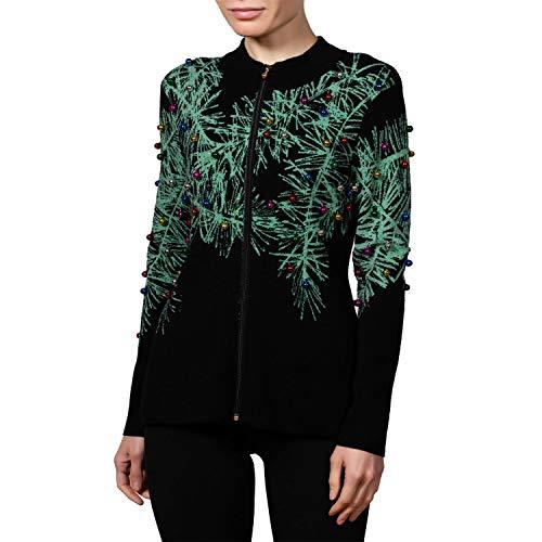 Berek Front Zip Dressy Christmas Cardigan for Women
