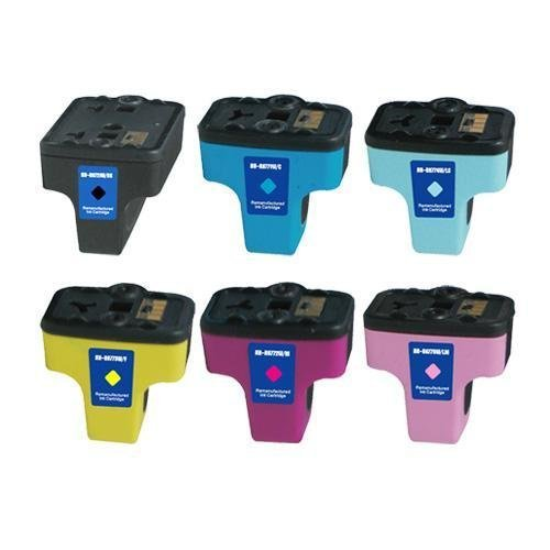 Generic   Remanufactured Ink Cartridge Replacement for HP 02 (Black, Multicolor, 6-Pack)