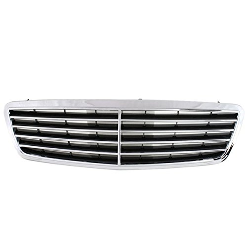 Koolzap For 01-04 C-Class Front Grill Grille Assembly Chrome/Black MB1200117 20388001839040