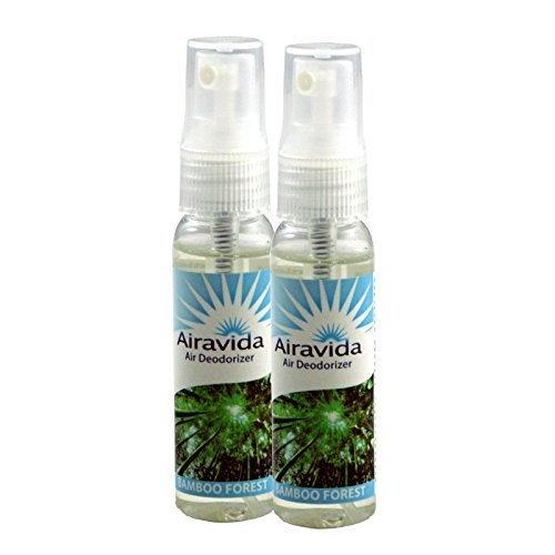 Aerosol Deodorizer (Airavida Air Deodorizer Eliminator for Home, Office & Car. Natural Non-Aerosol Air Freshener 1.1oz Bamboo Forest (Pack of 2))