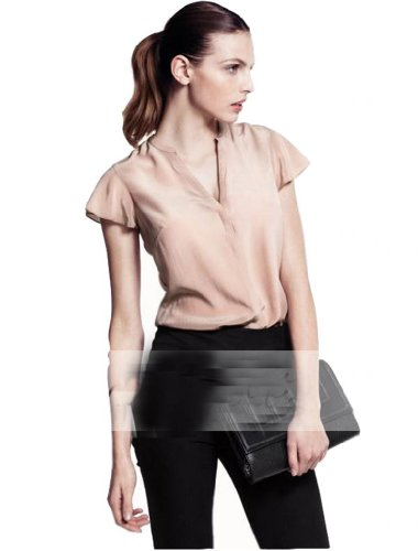 WIIPU womens office Lady blouse with invisible button decoration (J2-48)