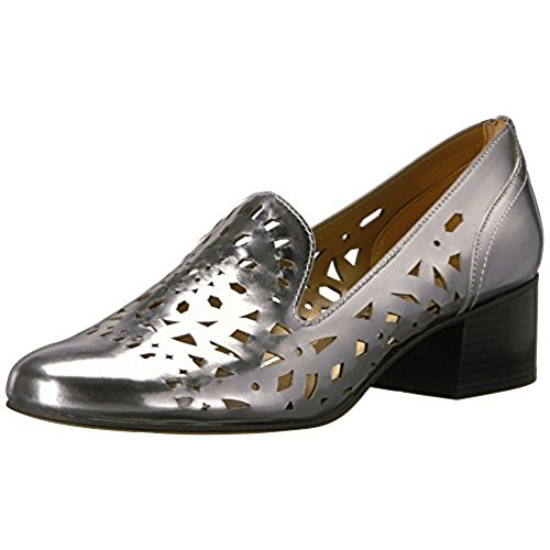 Anne Klein AK Sport Women's Judeena Leather Pump, Dark Silver Leather, 7.5 M (Ak Anne Klein Classic Pumps)