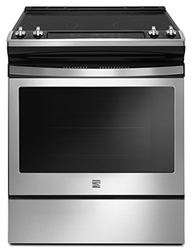 Range Clean Manual Electric (Kenmore 4.8 cu. ft. Self Clean Front Control Electric Range in Stainless Steel, includes delivery and hookup -2295113)