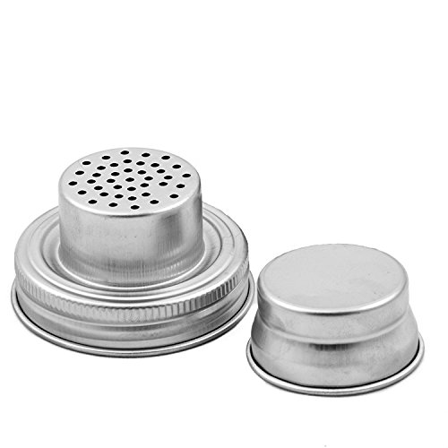 JoJa 1 Pack Mason Jar Cocktail Shaker Lid with Silicone Seal for Regular  Mouth Mason, Ball, Canning Jars