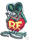 Rat Fink Green Red T-shirt Embossed Metal Tin Sign Licensed Ed Roth