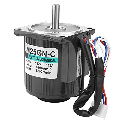 - AC Motor,High Speed Motor,Single Phase Motor, with Speed Controller, Pure Copper Wire,Squirrel-Cage Rotor, 220V 25W(1400RPM)