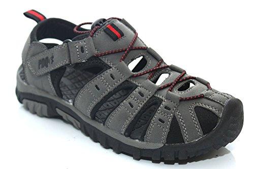 Velcro Garons Trail Rouge Summer Gris Sandals Pdq Bascule xI1EwqdIU