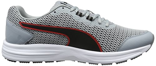 Puma Descendant V4 - Zapatillas de running Unisex adulto Gris (Quarry-puma Black-high Risk Red 07)