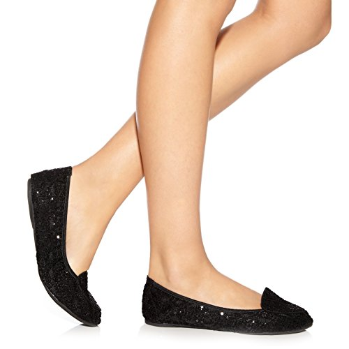 Negro Plegables Ballerinas Lentejuela Mujer Ballet Royal Zapatos Cocorose Perdita 0pwqAzn5