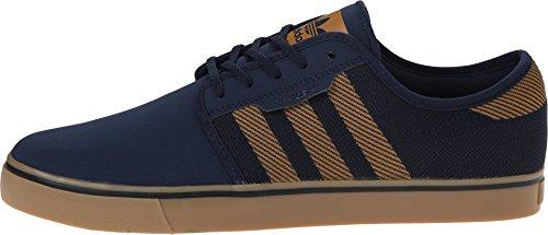 adidas Skateboarding Men's Seeley Woven Collegiate Navy/Mesa/Collegiate Navy Sneaker 9.5 D (M)