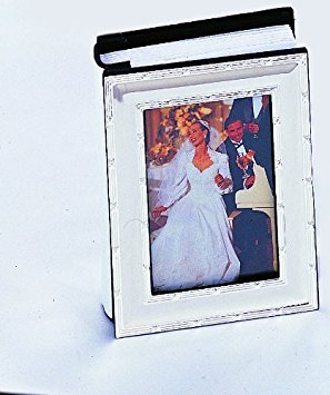 Sons Wedding Album - 5X7 SILVER REED AND RIBBON ALBUM - Photo Album