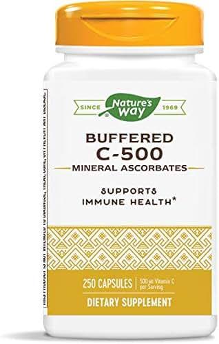 Nature's Way Buffered C-500 Mineral Ascorbates; 500 mg Vitamin C per Serving; 250 Capsules
