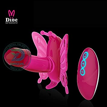 Wireless remote butterfly vibrator