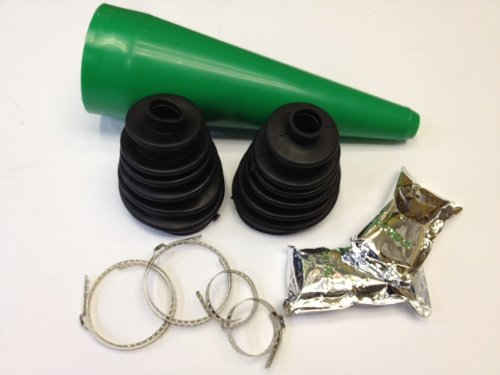 QUALITY STRETCH CV GAITER REPAIR BOOT EASY FIT WITH CLIPS Grease Pair AutoPower