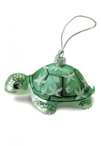 Island Heritage Honu Turtle Collectible Glass Ornament