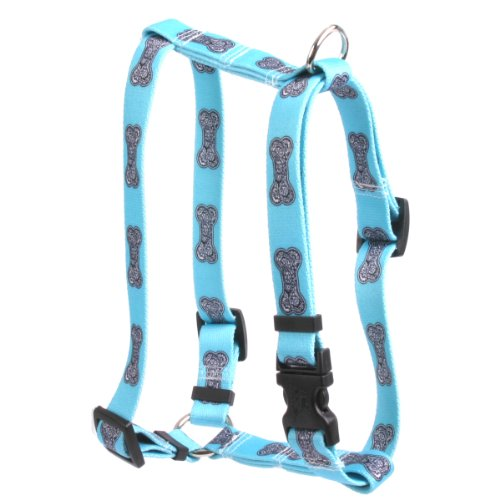 Yellow Dog Design Bella Bone 14-Inch to 20-Inch Harness, Small/Medium, Blue