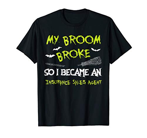 Insurance Sales Agent Halloween Costume Shirt Funny Lazy -