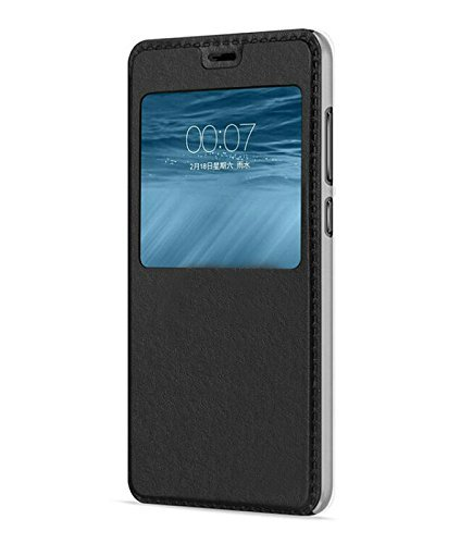 huge selection of c1556 d789d QAWACHH® Leather Flip Cover for Huawei Honor 8 Lite (Black Colour)