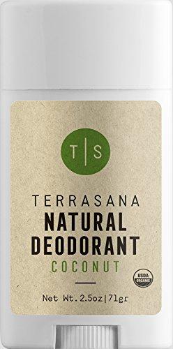 Terrasana All Natural & Effective Aluminum-Free Deodorant | Certified Organic, Vegan, Non-Toxic | Alcohol-FREE, Cruelty-FREE, Fragrance-FREE, Gluten-FREE - for Men & Women | 2.5oz