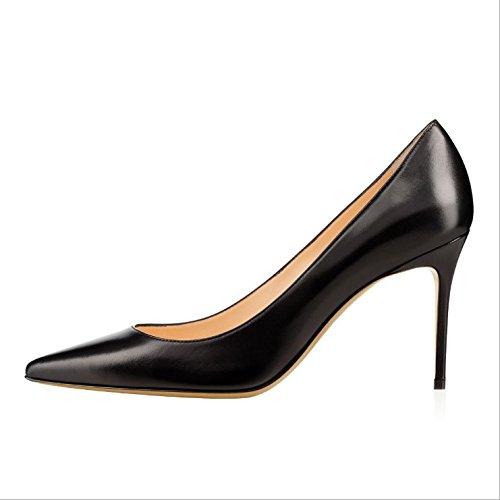 Ruanlei@Sexy de Tacones Altos/Clásicas Tacones Altos/fashion - Cerrado Mujer/Tacones de Charol ElegantesA la luz de la salvaje y elegante de alta Heel Shoes mujer black
