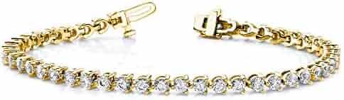 Jewelry Adviser Bracelets 14k AA Diamond tennis bracelet Diamond quality AA (I1 clarity, G-I color)