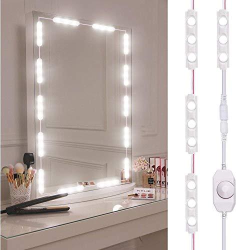 Roche.Z White Strip Light LED Mirror Lights Dressup Mirror Strip Light for -