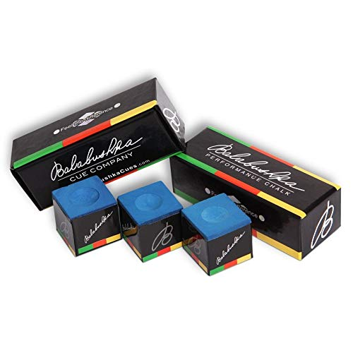 Balabushka Pool cue Billiard Performance Chalk - Blue - 3 pcs