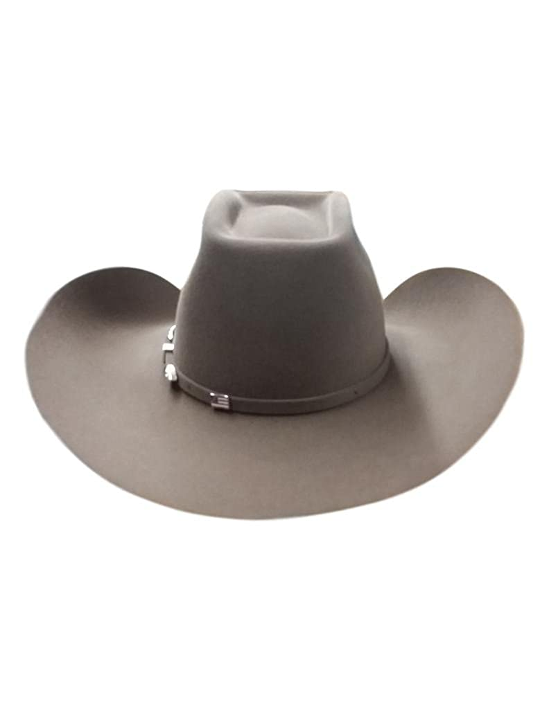 80f4effe43cb8 American Cowboy Hat Mens Felt Lucky 7X Brick Crown 6-UN at Amazon Men s  Clothing store