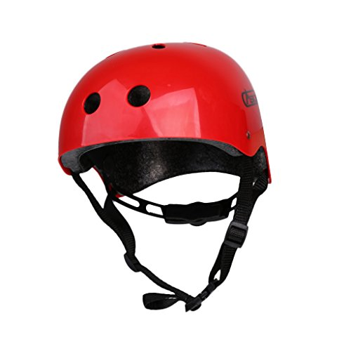(MagiDeal Outdoor Rock Climbing Rappelling Helmet Hard Hat Safety Protective Gear Red)